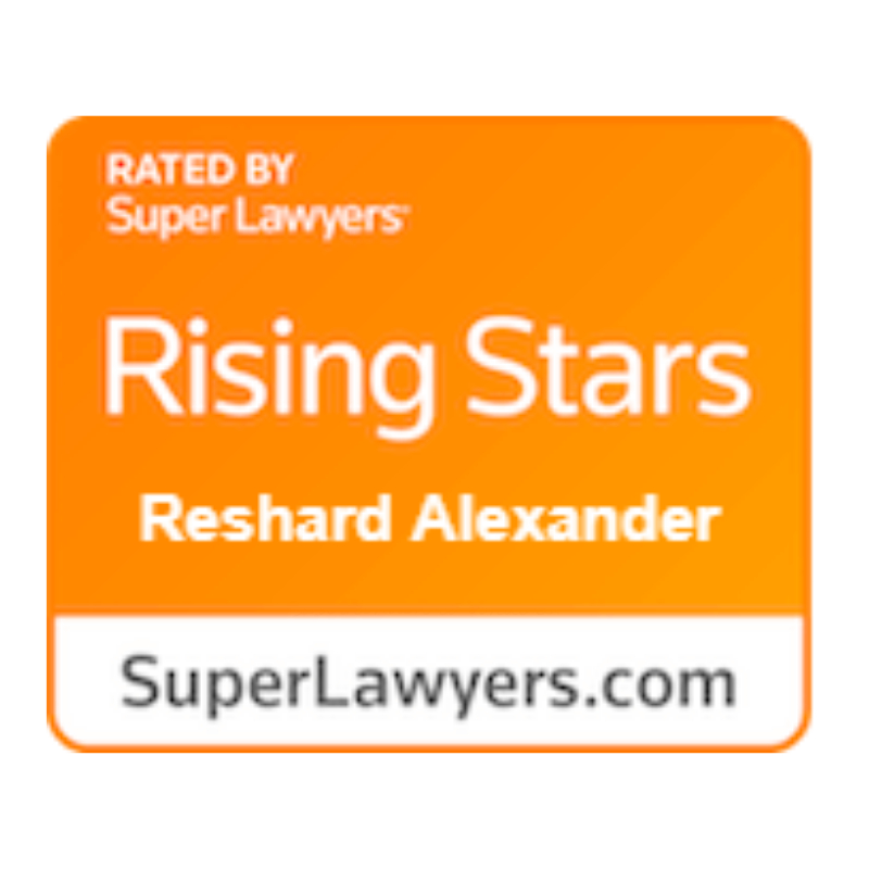 rising stars super lawyer award reshard alexander